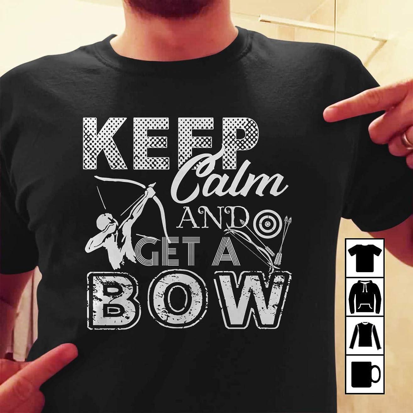 Bowman Archer Archery Keep calm and get a bow T Shirt Long Sleeve Sweatshirt Hoodie Youth