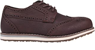 Soviet Brogue Shoes Child Boys Brown Trainers Footwear