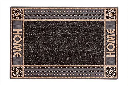 CarFashion PUR|DualClean Design Fussmatte - Schmutzfangmatte – Sauberlaufmatte – Eingangsmatte für Innen und Aussen, TPE-VC 100% Nachhaltig, Bronce-Metallic, 59 x 39 cm