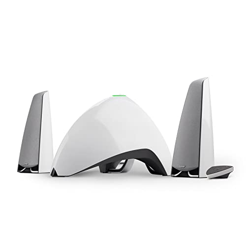 EDIFIER Prisma Encore - Kit d'enceintes 2.1 Bluetooth Blanc (64 Watts), idéal for TV, PC, Notebook, Tablette, Smartphone etc.