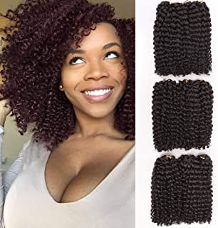 8 Inch Marlybob Synthetic Crochet Braiding Hair curly Crochet Hair Braids Kinky Curl Hair Bundles for Women 9 Packs/lot(4#)