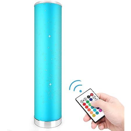 LED Stehlampe Dimmbar mit Fernbedienung für Wohnzimmer Farbwechsel Lichtsaeule LED RGB Stehleuchte Gaming Deko, 5 Watt, 54CM Höhe