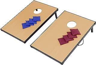 Chonlakrit Foldable Wooden Bean Bag Toss Cornhole Game Set Boards Tailgate Regulation Baggo