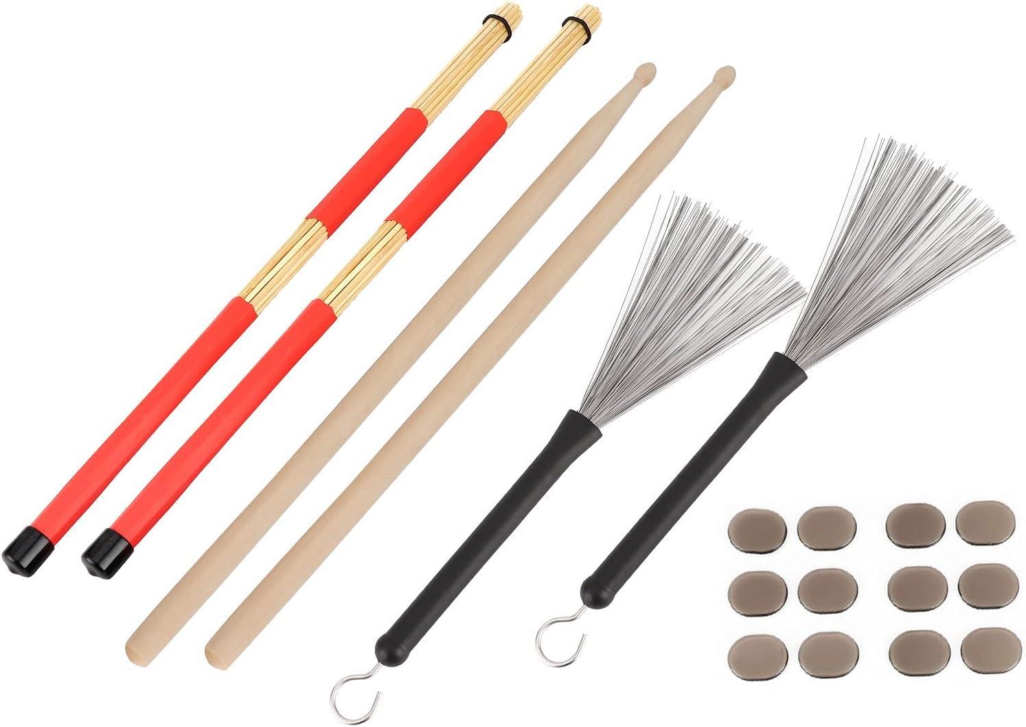 Drumstick Kit 5 ☆ popular Tucson Mall Rute Brush Damper Musical Set Instrument Play Drum