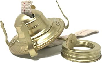 Light Of Mine Oil Lamp Replacement Burner | #2 Brass Plated Burner | Oil Lamp Replacement Parts | Burner | Reduction Ring & Replacement Wick for Antique Hurricane Lamps (1)