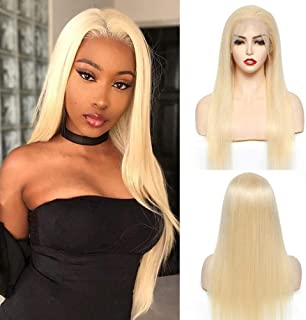 MatchU 613 Lace Front Wig Human Hair Wigs for Women, 13x4 Brazilian Virgin Hair Straight Lace Front Wigs Pre Plucked with ...