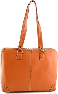 Porta Documenti Donna In Vera Pelle 1 Scomparto Colore Arancione - Pelletteria Toscana Made In Italy - Business