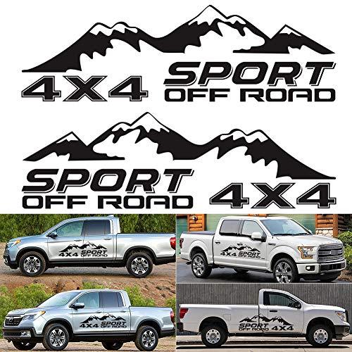 SELUXU Vinilo gráfico 4X4 Deporte Off Road Montaña Coche-Styling vehículo Body Falda Camping Autocaravana Trailer Calcomanías Pegatinas Decoración