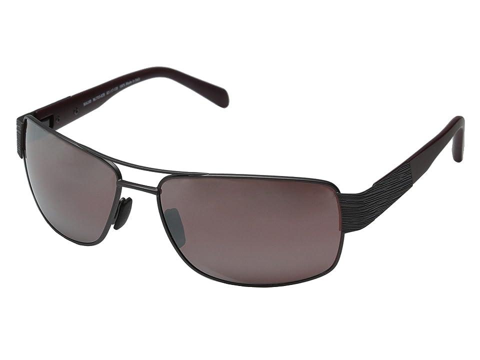 Maui Jim Ohia (Satin Dark Gunmetal/Burgundy/Maui Rose) Fashion Sunglasses