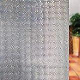 LMKJ 3D Mosaico Ventana película de privacidad Etiqueta de Vidrio PVC electrostático Esmerilado no Adhesivo Autoadhesivo baño película de Vinilo A10 40x200cm
