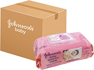 Johnson's Baby Skincare Wipes, 75 ct (Pack of 12)
