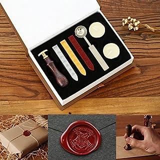 مجموعة شمع ختم ختم باوسترو، ريترو كلاسيك خمر ختم الشمع ختم ختم صانع عصا هدية مجموعة صندوق مجهول