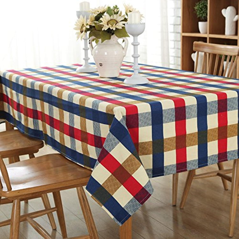 VLIMG Tischdecken , Europäische klassische Leinwand Tuch Tischdecken, mediterrane Gitter, 140  220CM B07B2WWPQ5 Meistverkaufte weltweit  | Auf Verkauf