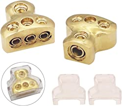 COROTC Power Distribution Block, COROTC 0/2/4 Gauge in 4/8/10 Gauge Out, Auto Car Audio Splitter, 1 in 3 Out, 2 Pcs