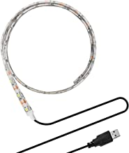 ONEVER Flexible Led Strip Lights with USB Cable for TV Computer Desktop Laptop Background Home Kitchen Decorative Lighting...