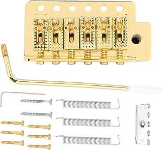 Guitar Tremolo Bridge, Tremolo System with Roller Single Locking Vibrato Bridge Tailpiece for ST Guitar (Gold)