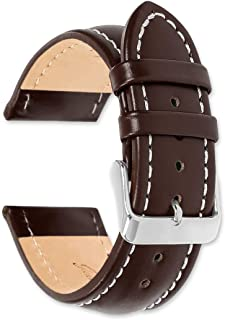 Breitling Style Oil Tanned Leather Watch band - Choice of colors & widths (Black, Brown, or Havana) (14mm, 16mm, 18mm, 19mm, 20mm, 22mm or 24mm)