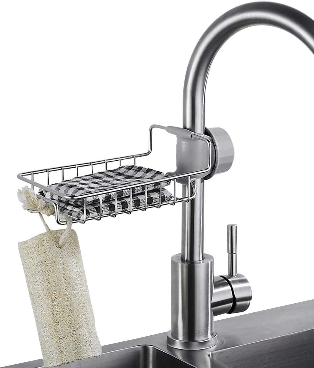 TAEHFUS Sponge Max 51% OFF Holder Regular store for Kitchen Sink Steel kitchen Stainless