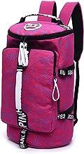 WOMJIA Bunt Reisetsache Sporttasche Weekender Tasche Handgepäck aus Canvas Segeltuch 35 Liter Pink