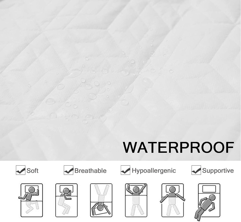 54x75 Pattern 1, Full CHHKON Mattress Pad Protectors,Breathable Mattress Pad Cover,Original Design Pattern,Super Soft Encasement