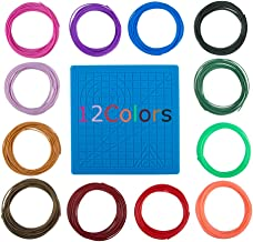 20 Filaments 3D Printer//3D Pen Filament Including 5 Fluorescent Each Color 32 Feet 1.75mm PLA Filament Refills Pack of 20 Total 656 Feet 5 Luminous