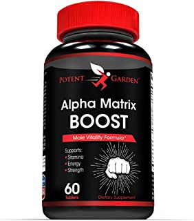 Men's Testosterone Booster Supplement by Potent Garden (60 Caps) – Formulated to Increase T-Levels and Energy – Powerful Ingredients Including Maca, Tongkat Ali and Tribulus.