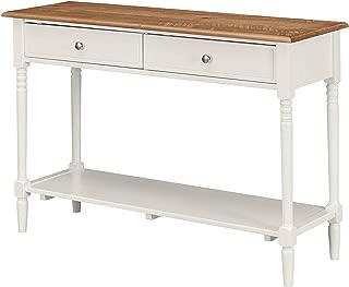 Rаvеnа Hоmе デラックスプレミアムコレクション ファームハウスストレージコンソールテーブル 48インチ幅 素朴なホワイト装飾 快適なリビング家具