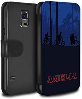 Personalized Custom Strange Retro PU Leather Case for Samsung Galaxy S5 Mini/Forest Bike Ride Design/Initial/Name/Text DIY Wallet/Cover