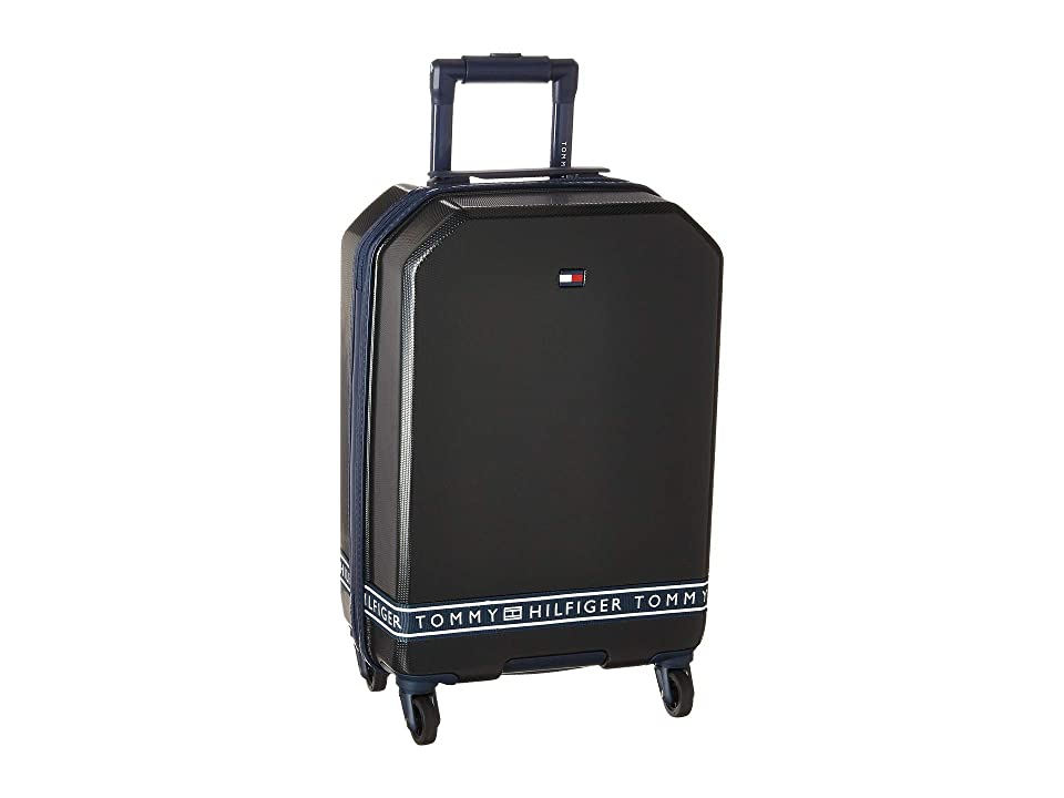 Tommy Hilfiger 21 Sneaker Sport Upright Suitcase (Black) Luggage