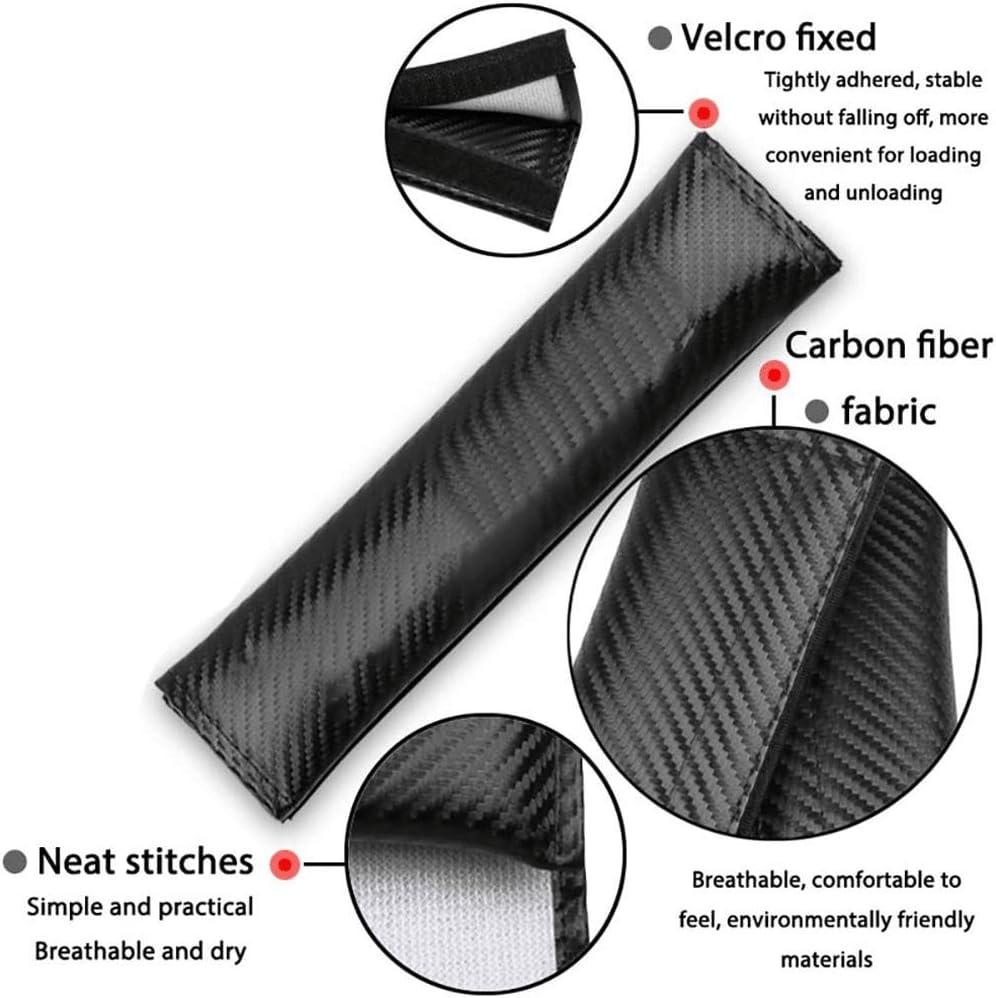 ZHFF 2Pcs Voiture Fibre Carbone Rembourrage Ceinture S/écurit/é /Épaule pour Ford Ecosport Prot/ège Cou Housses Seat Safety Belt Padding Car Int/érieur Styling Accessoires