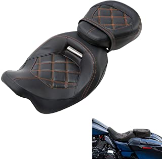 $299 » Sponsored Ad - TCMT Low-Profile Driver Passenger Two Up Seat Fit For Harley Road King Street Glide 2009-2019 CVO Street Gl...
