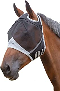 Shires Fine Mesh Fly Mask with Ear Holes,