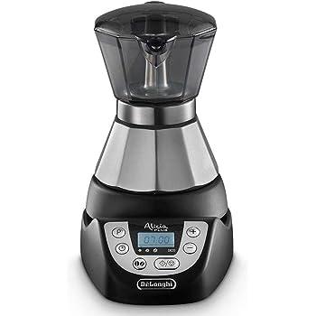 DeLonghi EMKP 21.B Cafetera moka eléctrica, 450 W, cronómetro, 2 tazas, acero inoxidable, negro y plateado: Amazon.es: Hogar