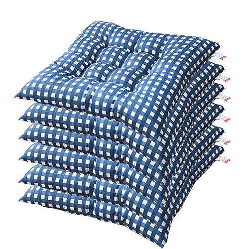 AGDLLYD Set of 6 Padded Cushion Chair Seat Pads Chair Seat Cushion Pads Kitchen Garden Dining Chair with Straps 40x40 cm