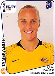 2019 Panini FIFA Women's World Cup France Album Stickers Soccer #185 Tameka Butt Australia 2 Inch by 2 1/2 Inch Collectible Sticker