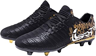 iFANS Men Athletic Outdoor/Indoor Soccer Shoes Boys Football Cleats Sneaker Shoes