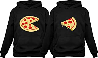 The Missing Piece Pizza & Slice - His and Her Hoodies - Matching Couple Hoodies