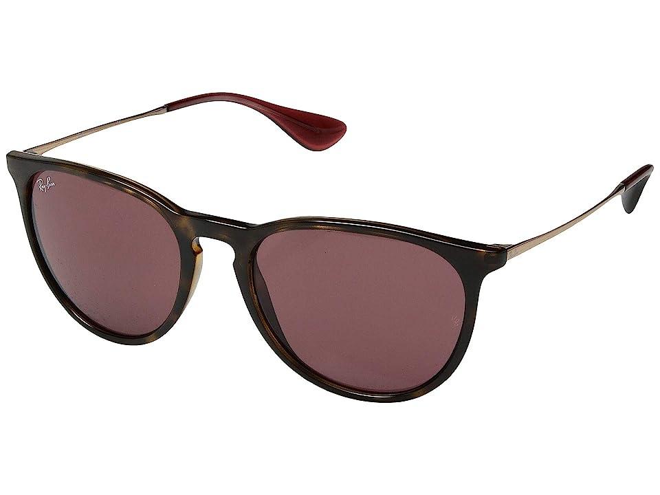 Ray-Ban Erika RB4171 54mm (Shiny Havana/Bordeaux) Fashion Sunglasses