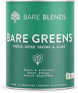 Bare Blends - Bare Greens, Organic Greens Powder | ACO Certified | Gluten Free | non-GMO | Sugar Free | 100g