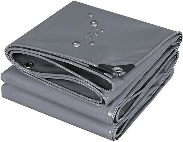 LQQGXL Bache de Prougeection Solaire Anti-Pluie bache de Camion bache Pare-Soleil extérieur Anti-poussière Anti-Vent Isolation Canopy Toile, gris Bache imperméable à l'eau