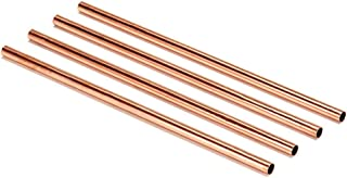 Copper Drinking Straws | Healthier, Reusable and Environment Friendly Straws (Set of 4)