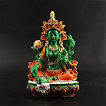 PPCP Green Tara Buddha Buddha Ornaments Meditation Sitting Worship Enchanting and Serene Small Buddha Statue Buddhist Supp...