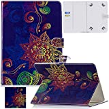 Universal 7.5-8.5 inch Tablet Case, Artyond Multi-Angle Stand Flip Wallet Case with Cards Slots Magnetic Buckle Cover for iPad Mini,Kindle,Android,Galaxy Tab & Other 7.5-8.5 inch Tablet (Retro)