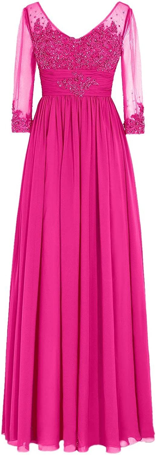 Uryouthstyle VNeck Beaded Mother Of The Bride Dress Plus Size Formal Prom Gowns