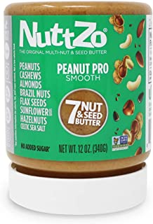 NuttZo Natural Smooth Peanut Pro Seven Nut & Seed Butter, 12 Ounce