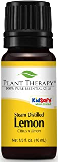 Plant Therapy Lemon Steam Distilled Essential Oil 10 mL (1/3 oz) 100% Pure, Undiluted, Therapeutic Grade