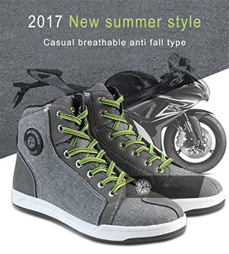 Botas de Motocicleta Hombres Accesorios Casuales Equipaje de protección Transpirable Deporte Zapatos Antideslizantes 43