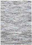 THEKO clásico hecho a mano del color de la alfombra Diseñador variaciones de tamaño azul 65 x 135 cm