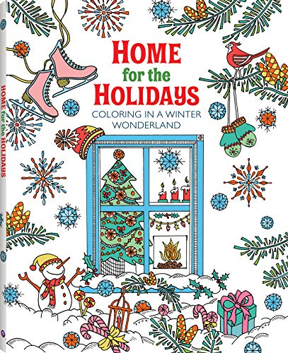 Christmas Coloring Book For Adults: Home for the Holidays - Coloring in a Winter Wonderland