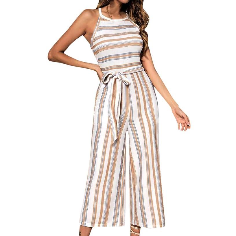 Pengy Women Jumpsuit Sunflower Printing Dot Sleeveless Clubwear Dress Ladies Wide Leg Pant Spot Outfit Playsuit